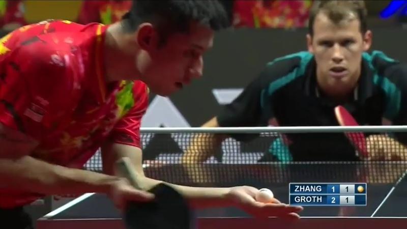 Zhang Jike vs Jonathan Groth | 2018 Asia vs. Europe