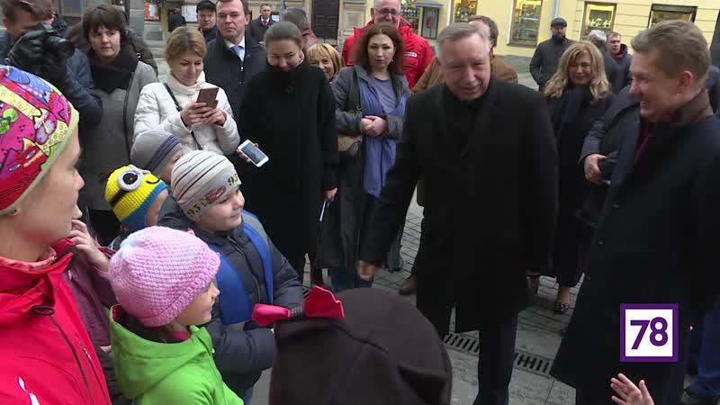 Александр Беглов проинспектировал работы на 1-й Советской улице