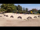 Свалка рядом с детской площадкой в пригороде Саратова