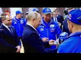 Путин в Казани поздравил команду «КамАЗ-Мастер» с победой на ралли «Дакар-2018»