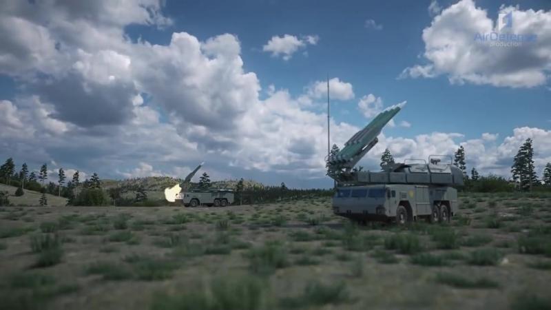 Работа ЗРК Бук-М2 и ЗРС С-300ВМ Антей-2500 по воздушным целям