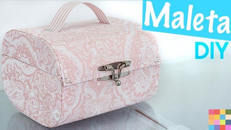 DIY - Caixa Organizadora Maleta | Feita com caixa de sapato