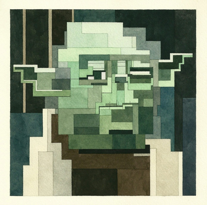 """lz6Iw3F573c - Серия геометрических картин """"Star wars"""" от Adam Lister"""
