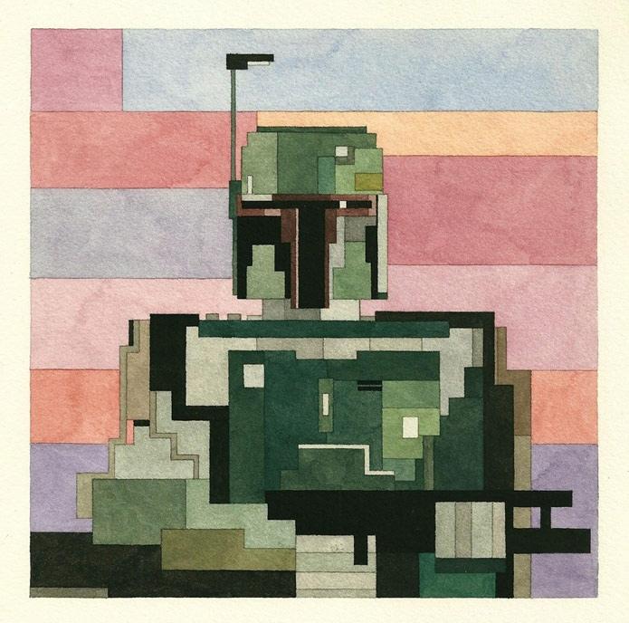 """7XlGrTbJ2n4 - Серия геометрических картин """"Star wars"""" от Adam Lister"""