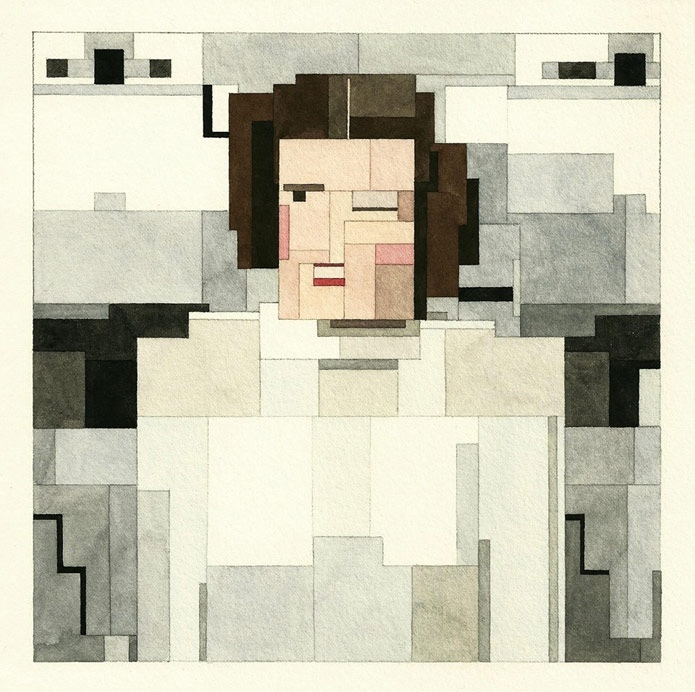 "ki1unjIrwNY - Серия геометрических картин ""Star wars"" от Adam Lister"