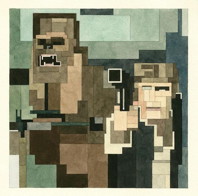 Серия геометрических картин «Star wars» от Adam Lister