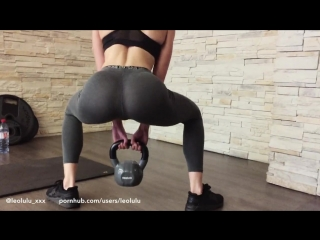Leolulu - girlfriend flashing and fucking at the gym!! (natural girls porno)