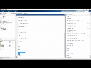 Learn Working on Command Window of MATLAB® through MATLAB® training online videos