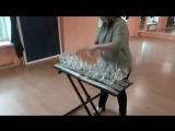 Игра на бокалах, подготовка к конкурсу