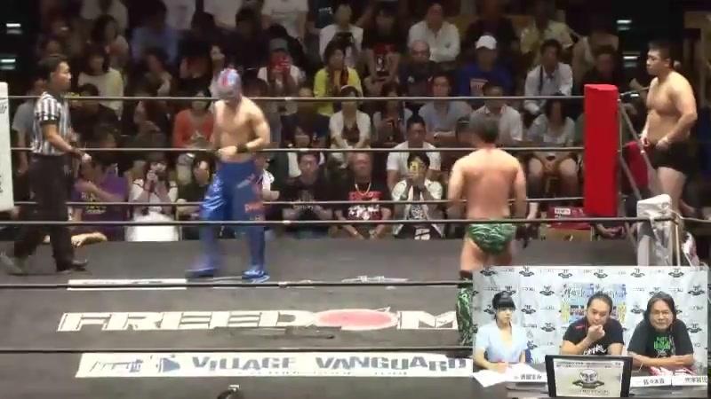 Dragon Libre, Chikara vs. Yuya Susumu, Heisenberg (FREEDOMS - Jun Kasai Produce 2018 Series Opener)