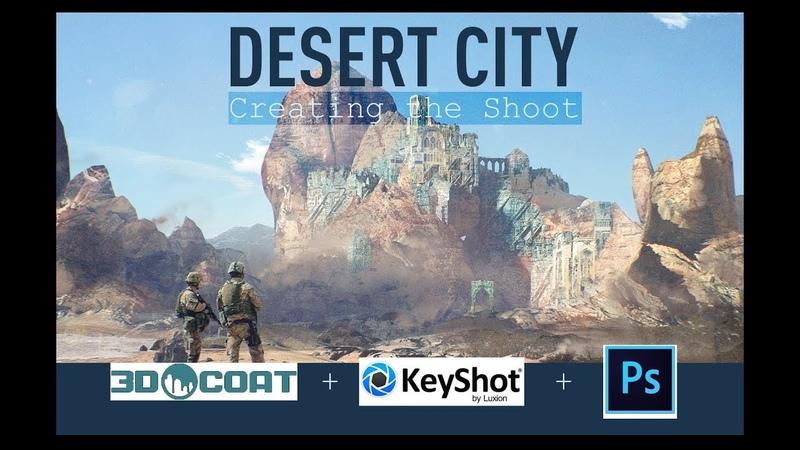 Город в пустыне. Timelapse process video