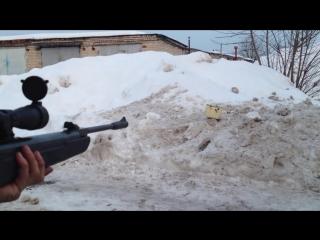 Стрельба из винтовки Hatsan 125