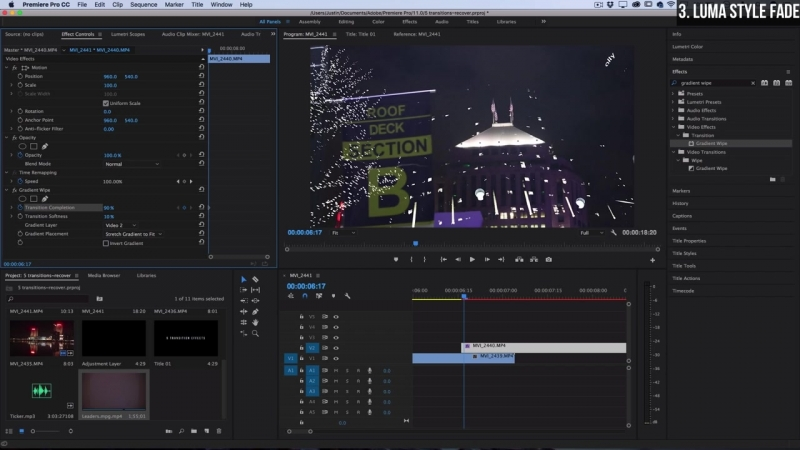5 Stylish Video Transitions Effects for your Vlogs Films (Adobe Premiere Pro C