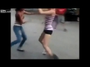 White chick fights Black chick