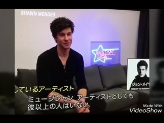 Shawn Mendes' Interview with a Japanese TV