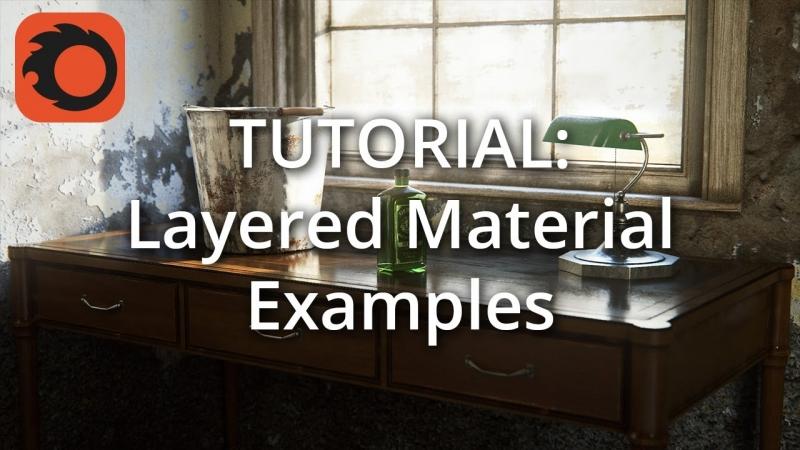 Настройка материала Corona LayeredMTL (3-4- Гравировка на стекле)