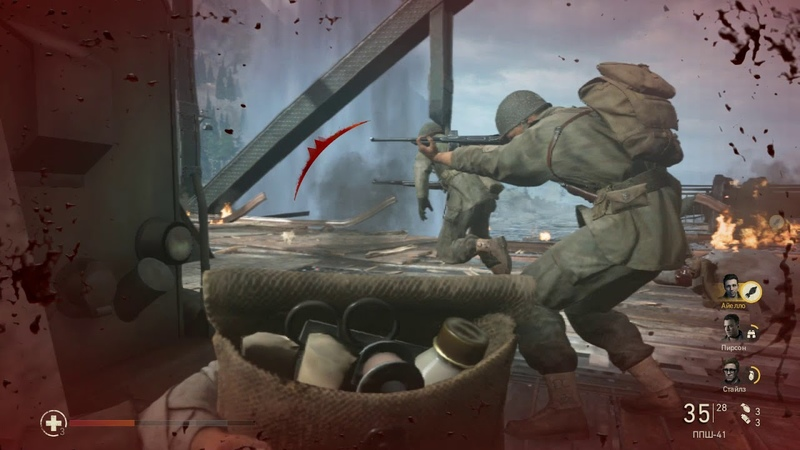 Call Of Duty 14 WWII (PC, 2017) Миссия 11 Рейн