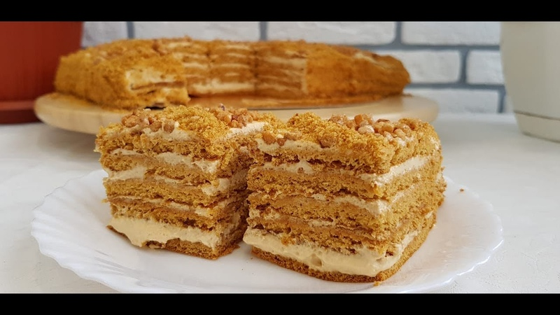 Медовик Тающий во рту/Асалли торт осонгина усули