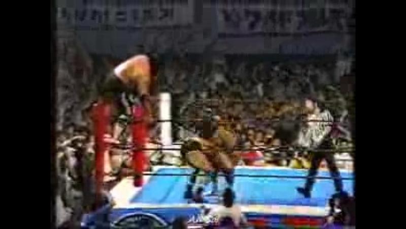 Masa Saito Riki Choshu vs Tatsumi Fujinami Kengo Kimura 1984 Fukuoka