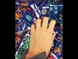 🤩💙💣Расцветка ШИК сочный/ стильный платок 120*120 состав 100%шелк 😍край прошит в ручную