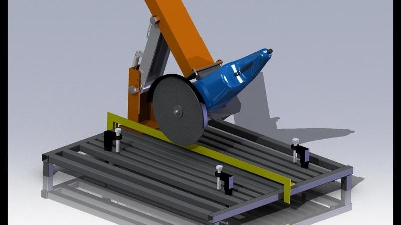 Самодельная станина для болгарки УШМ 230 Своими руками Angle grinder stand