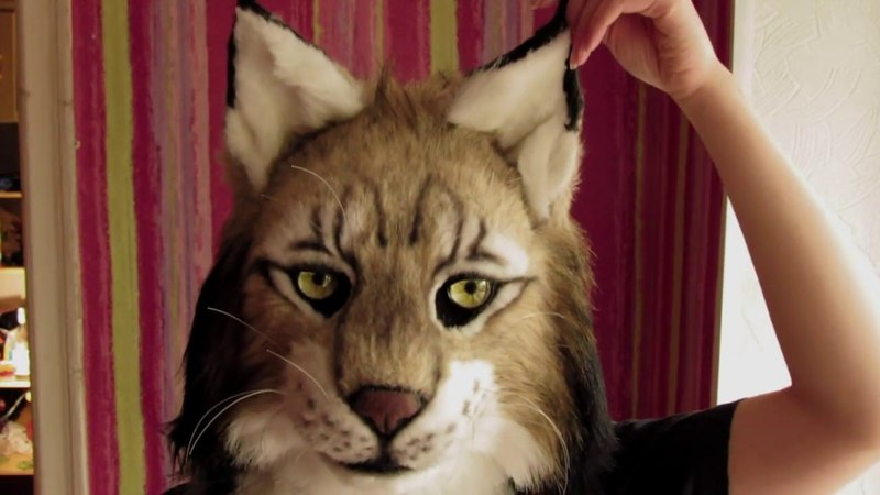 Fursuit head Iberian Lynx