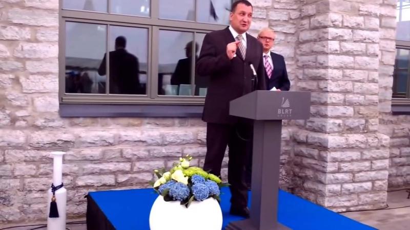 Выступление Владимира Дервенева на открытии площади Крузенштерна в Таллине