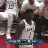 The first of many nasty blocks goaltends from Zion Williamson at Duke