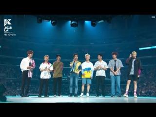180812 PENTAGON - INTRO (feat Jun Curry), Shine, Talk, Beautiful, RUNAWAY @ KCON 2018 LA