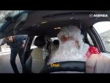 Дед Мороз работает таксистом