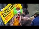 Хоакин Феникс в образе клоуна на съёмках фильма «Джокер»