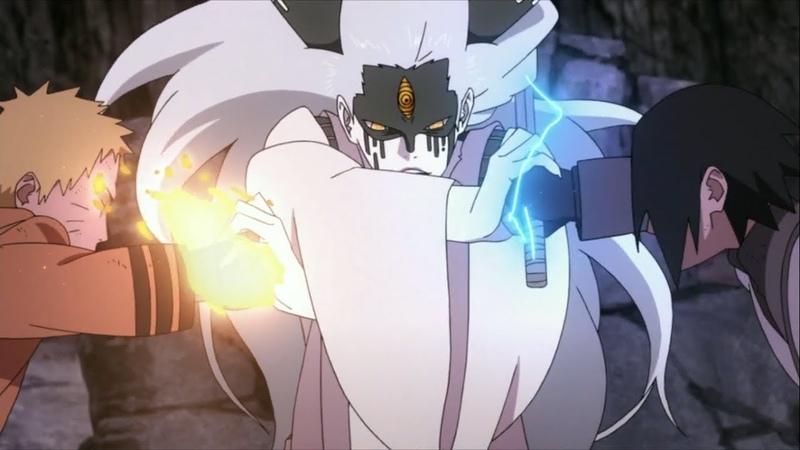 Наруто и Саске против Момошики Ооцуцуки / Боруто 65 серия
