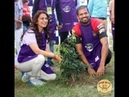 Juhi Chawla Planting 100 saplings with KKR team and many more actress