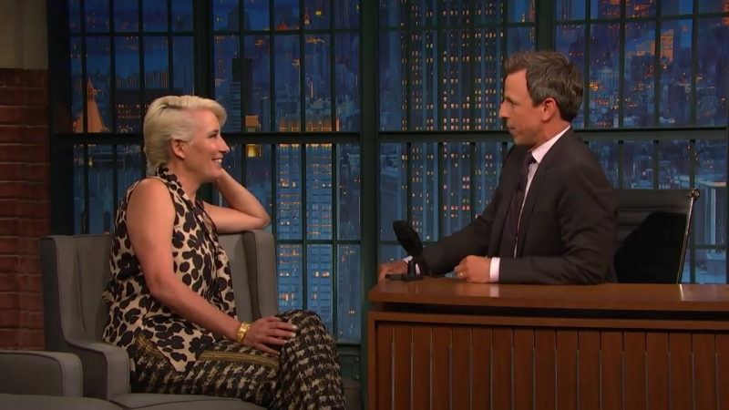 Late Night with Seth Meyers: Emma Thompson Accepted Her Damehood for the Fancy Medal