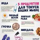 5 продуктов для тонуса ваших мышц