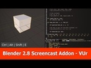 Blender 2.8 Screencast Keys Addon