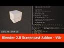Blender 2.8 Screencast Keys Addon