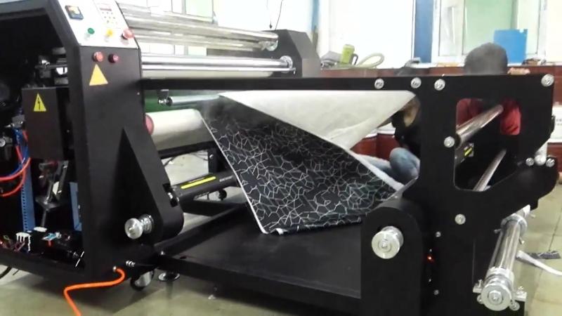 Prensa del calor del aceite de 1200m m mini - pequeña máquina de transferencia de calor del rodillo