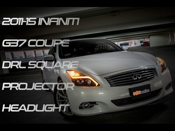 Pre-order now, before it gone!! OEMassive 2008-15 INFINITI G37 COUPE DRL SQUARE PROJECTOR HEADLIGHT