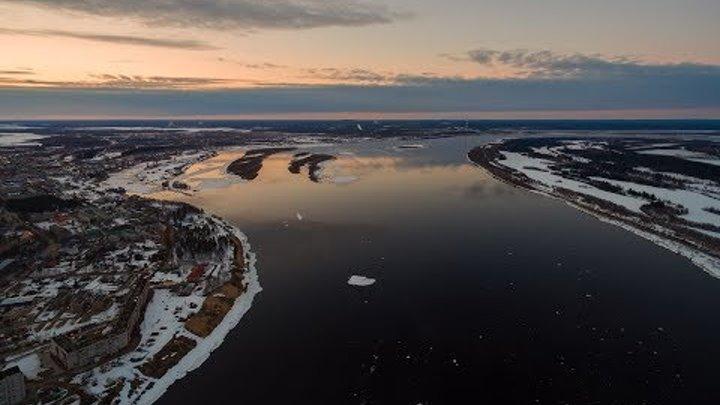 Ледоход на реке Печора 2017
