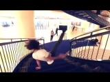 Спуск по лестнице флаем