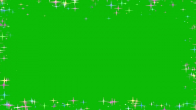 Green Screen Sparkle Frame Glitters Colour Shiny Футаж Рамка Блеск цветной Хрома
