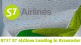 FSX HD B737 800 S7 Airlines Landing in Krasnodar (URKK)