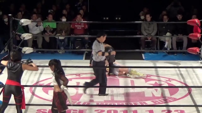 Hiromi Mimura, Konami Starlight Kid vs. Oedo Tai (Hana Kimura, Kagetsu Kris Wolf)