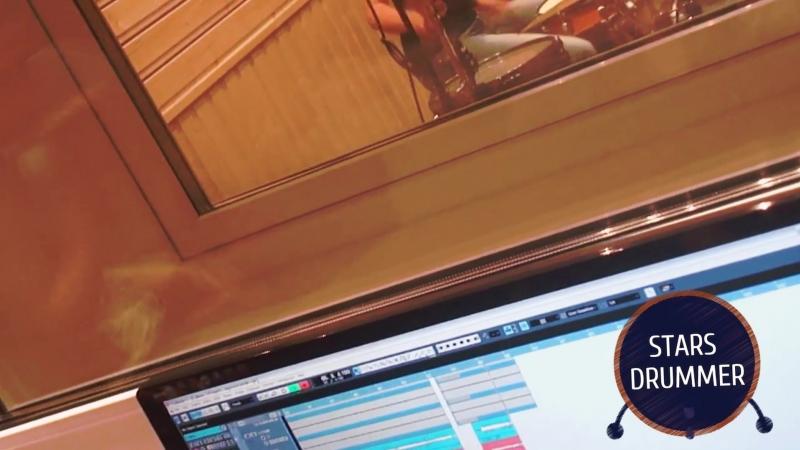 Запись ударных на студии