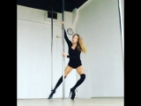 Exotic pole with Mila (Anastasia Fateeva) instagram