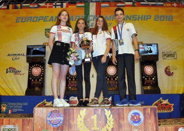 Юные спортсмены из Бибирева завоевали высокие награды на первенстве и чемпионате Европы по дартсу