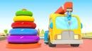 Autoscuola dei camion! Piccola gru supera le 3 prove! | Cartoni animati per bambini