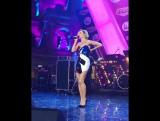 Полина Гагарина на съемках новогоднего концерта