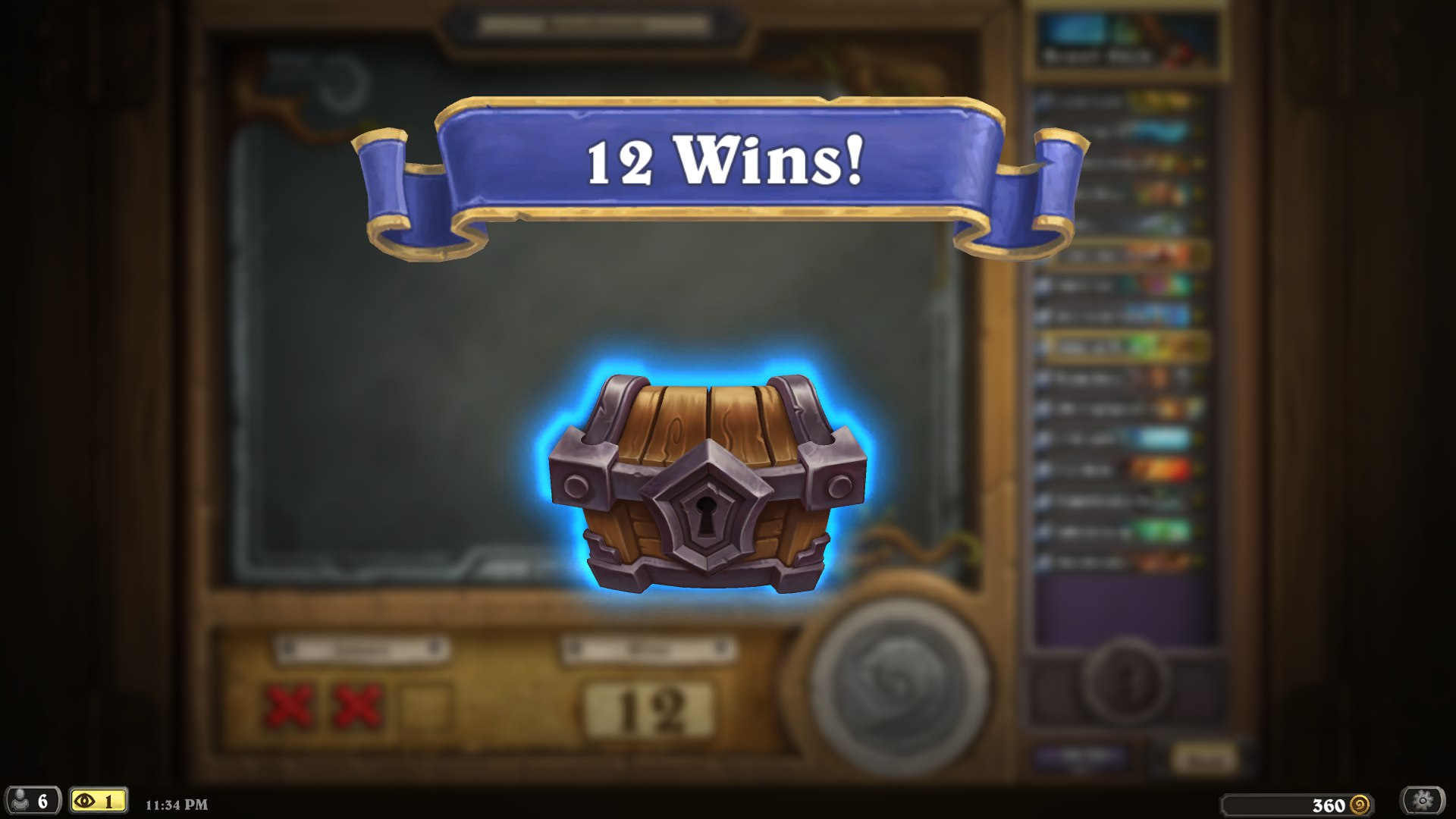 12 wins